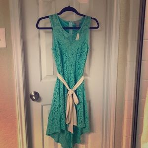 NWT Seafoam Lace Highlow Flying Tomato Dress